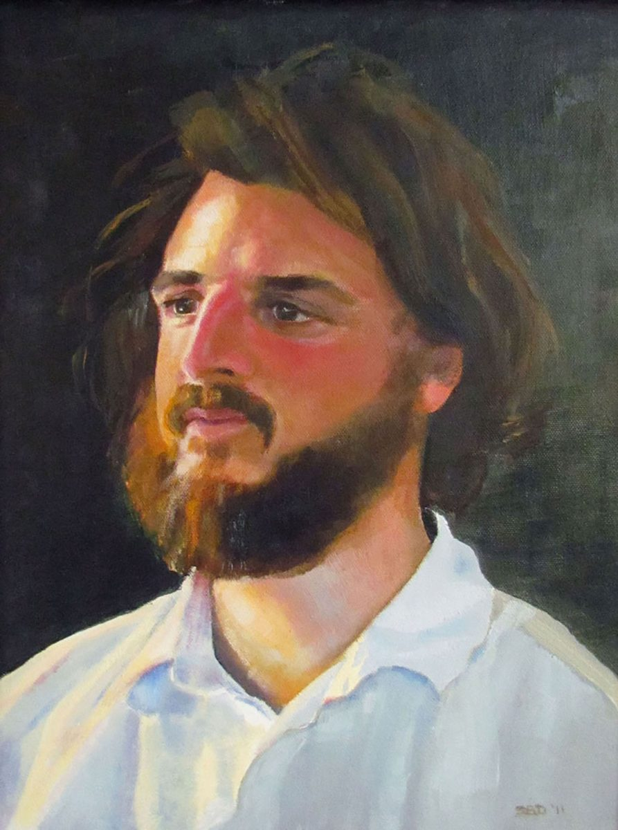 oil painting of man